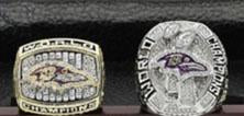 Baltimore Ravens Super Bowl Ring Set (2000, 2012) Replica - NFL - Championship Rings for Fans