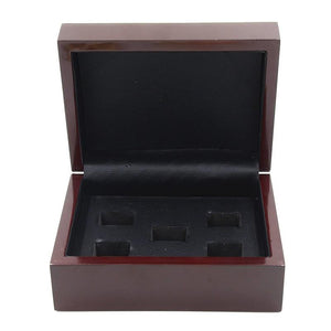 Solid Wooden Display Box (5 Holes) - Championship Rings