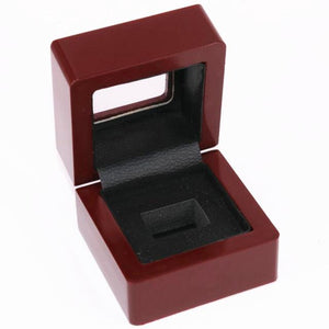 Solid Wooden Display Box with Clear Display - Championship Rings