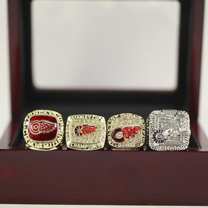 Detroit Red Wings Stanley Cup Ring Set (1997, 1998, 2002, 2008) - Premium Series - Championship Rings