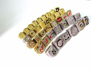 ULTIMATE NHL FAN PACK! 38 Piece Set!! 1956 Montreal Canadiens To 2017 Pittsburgh Penguins Stanley Cup Rings Set Replica - NHL - Championship Rings for Fans