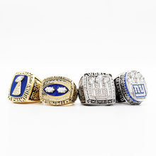 New York Giants Super Bowl Ring Set (1986, 1990, 2007, 2011) - Championship Rings