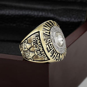 Edmonton Oilers Stanley Cup Ring (1985) Replica - NHL - Championship Rings for Fans