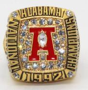 Alabama Crimson Tide College Football National Championship Ring (1992) - George Teague - Championship Rings