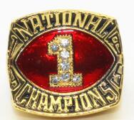 Oklahoma Sooners College Football National Championship Ring (1985) - Championship Rings