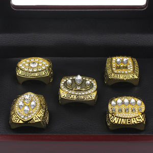 San Francisco 49ers Super Bowl Ring Set (1981, 1984, 1988, 1989, 1994) - Championship Rings