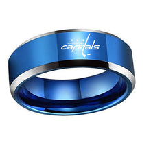 Washington Capitals Logo Titanium Ring (8mm)