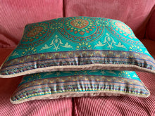 Load image into Gallery viewer, Silk sari cushion