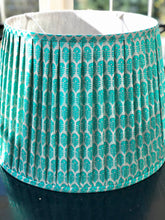 "Load image into Gallery viewer, 18"" silk sari lampshade"