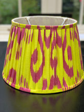 Load image into Gallery viewer, Yellow ikat lampshade 14""