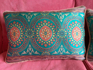 Silk sari cushion