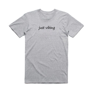 Just Vibing - Embroidered T-Shirt