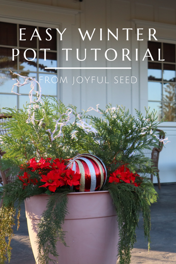 Easy Winter Pot Tutorial