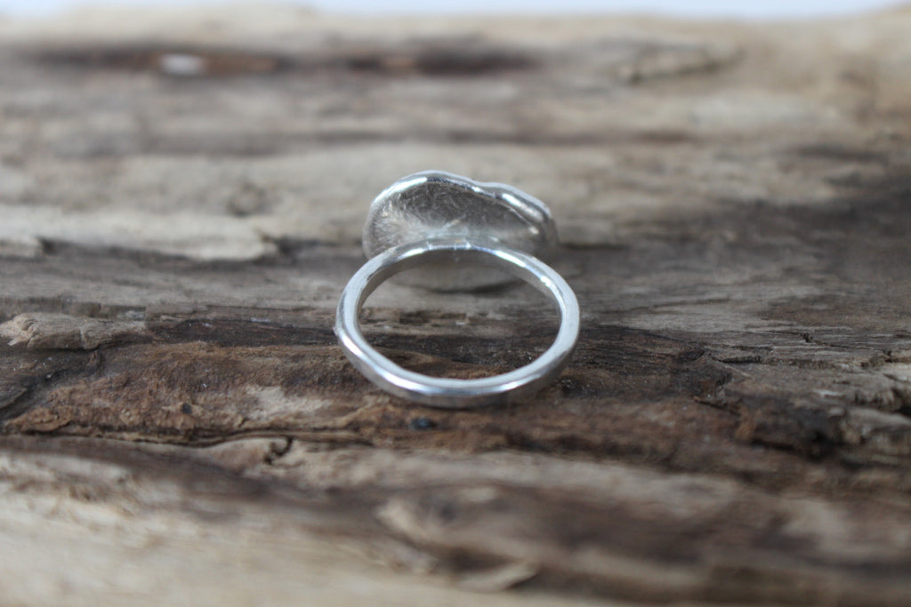 Puddle Ring - eco friendly sterling silver melted puddle