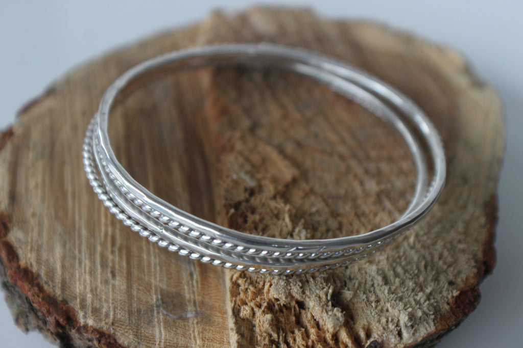 silver bangles by SFDesigns