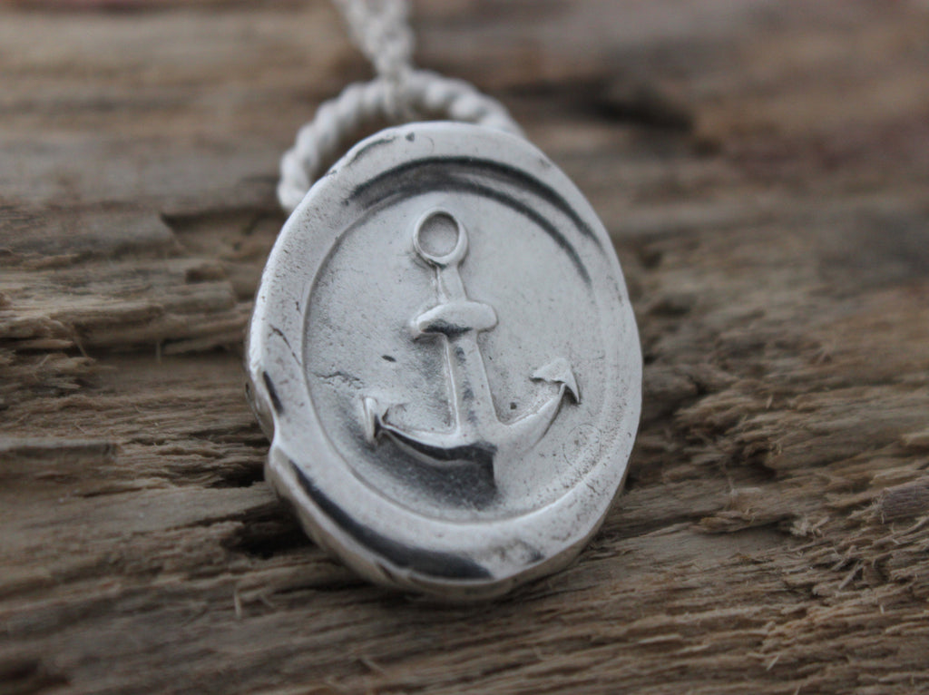 Stay Anchored Wax Seal Necklace