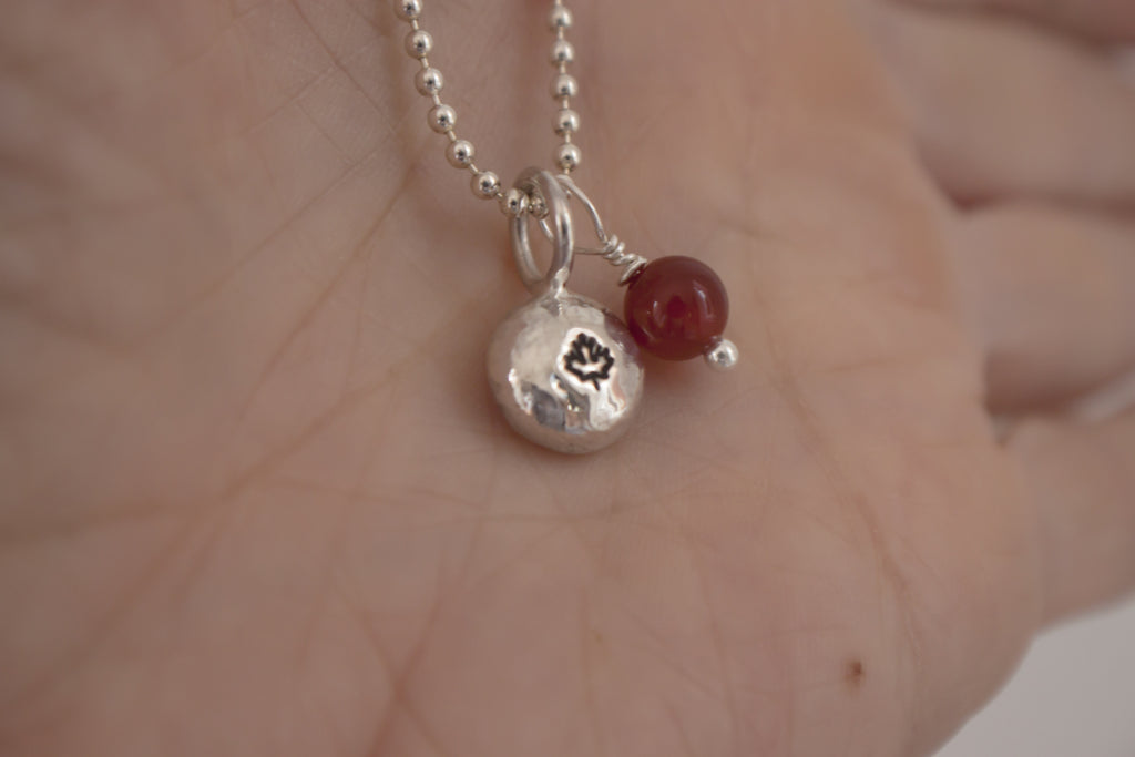 Oh Canada - maple leaf silver necklace