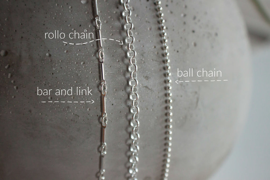 rollo, ball, bar and link chain examples