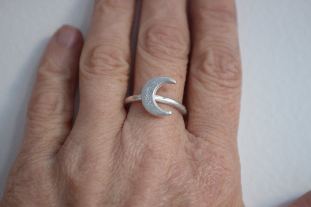 Lunar Love - crescent moon ring
