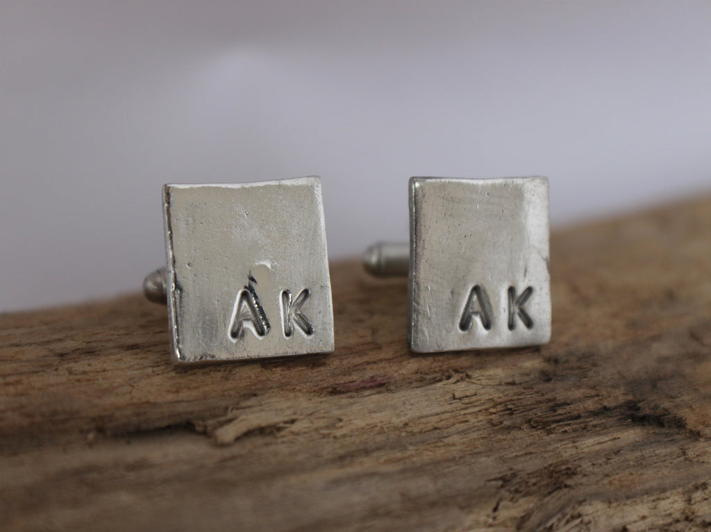 Simply Him - personalized silver cuff links