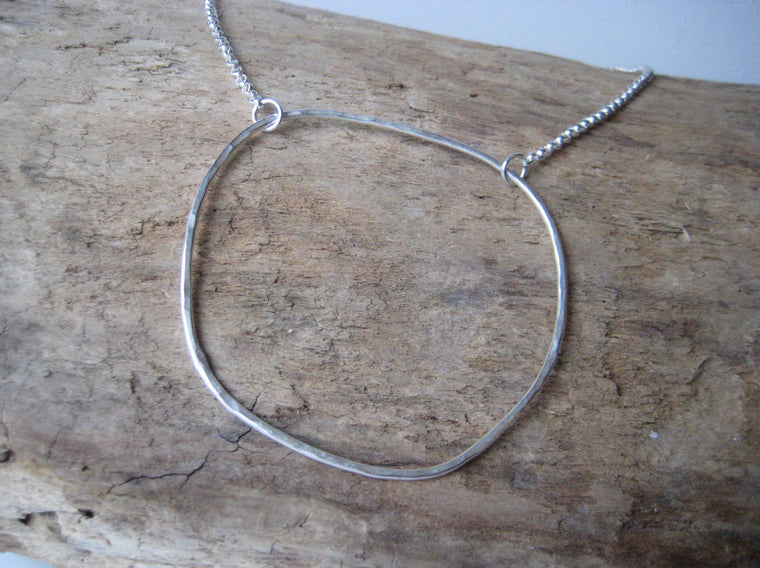 Circle of Hope - large silver open circle