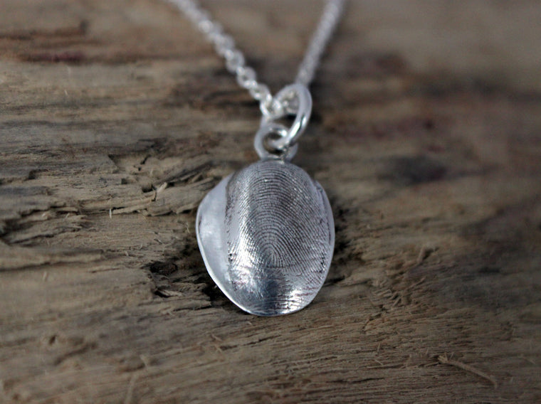 fingerprint impression necklace in fine silver by SFDesigns