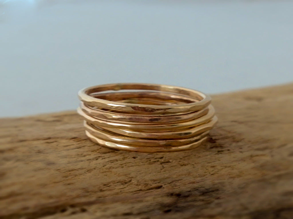 gold filled stacking rings by SFDesigns