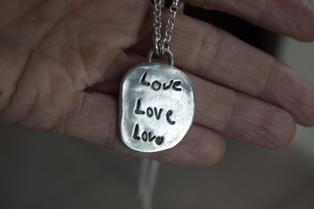 lasting impression silver necklace handmade by SFDesigns