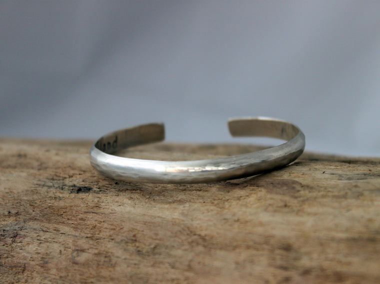 personalized sterling silver cuff by SFDesigns