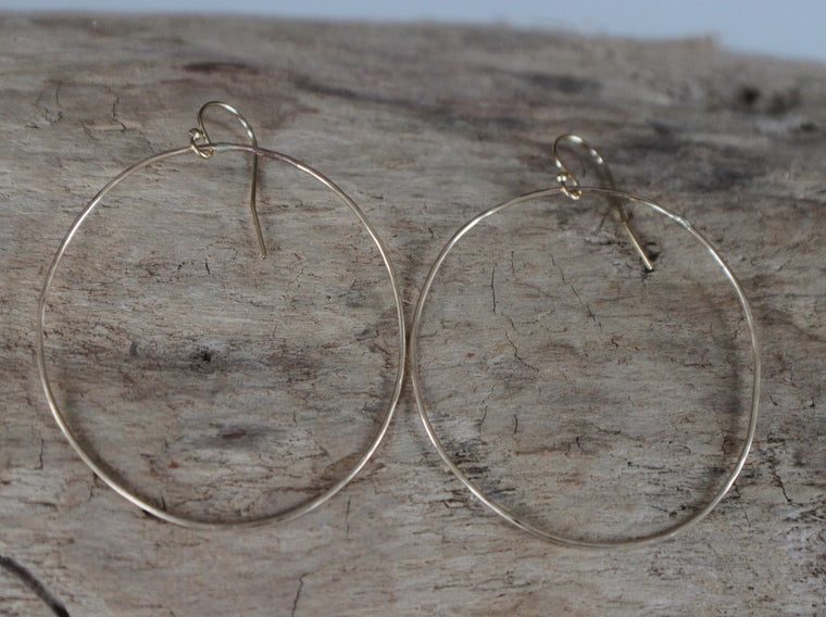 Circles of Hope - gold hoop earrings