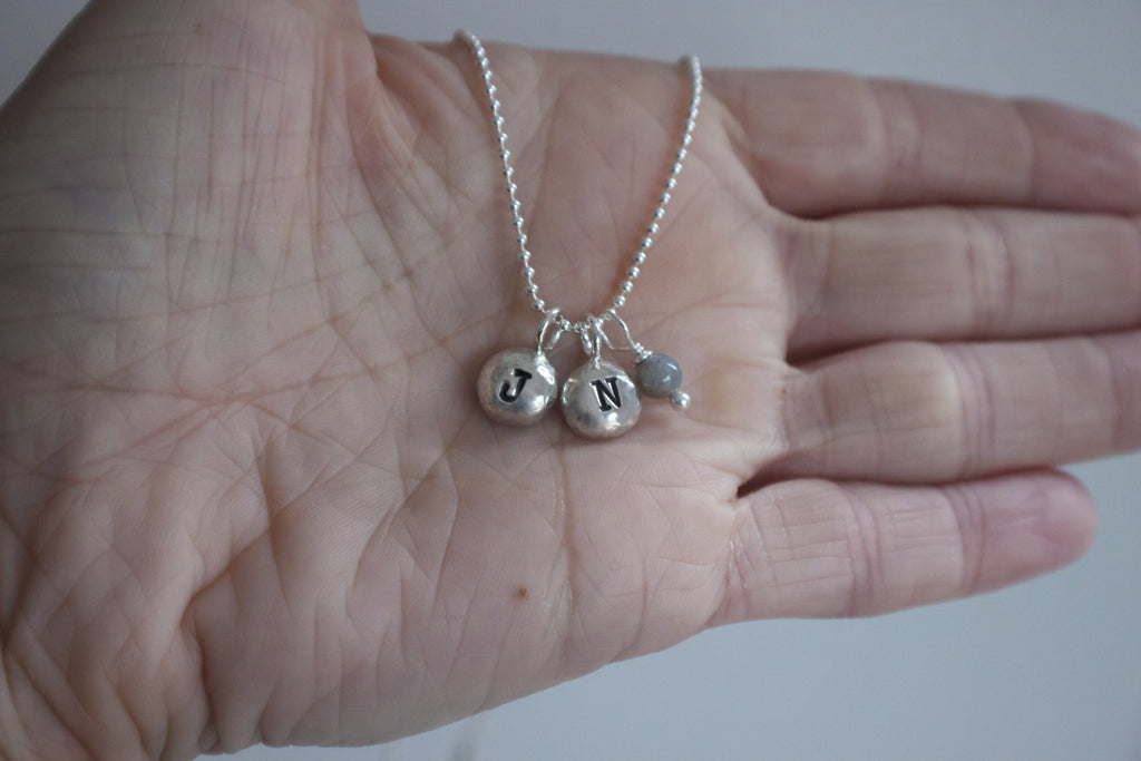 Silver Initial Necklace by SFDesigns