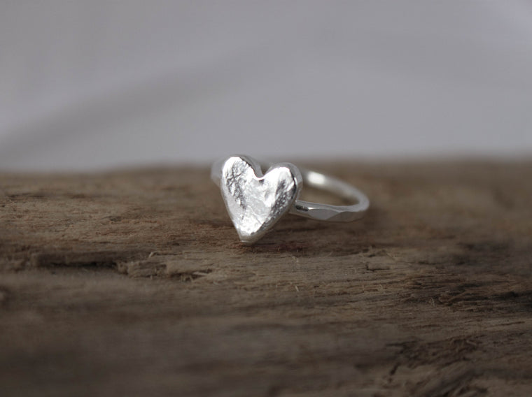 Just Because - silver heart ring