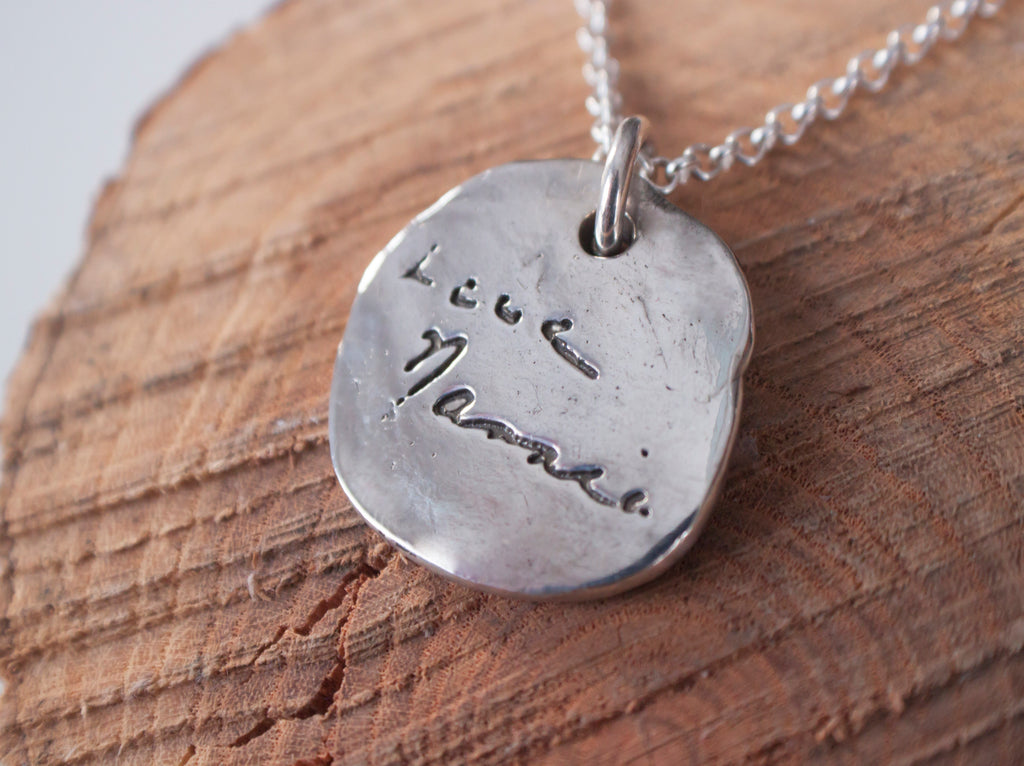 Lasting Love - personalized handwriting necklace