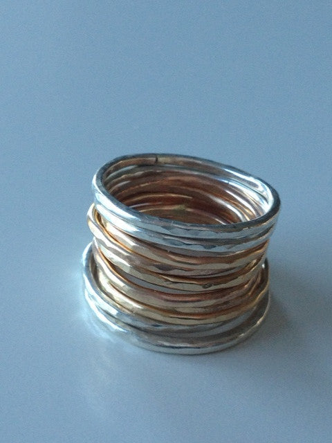 Simply Stacked - 14K gold stacking rings