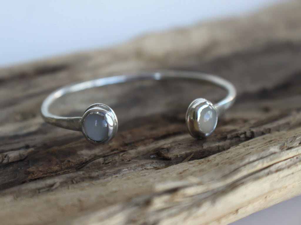 moonstone and sterling silver cuff bracelet by SFDesigns