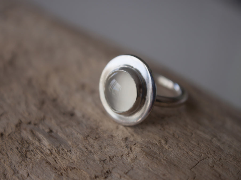 simple talisman moonstone semi precious ring