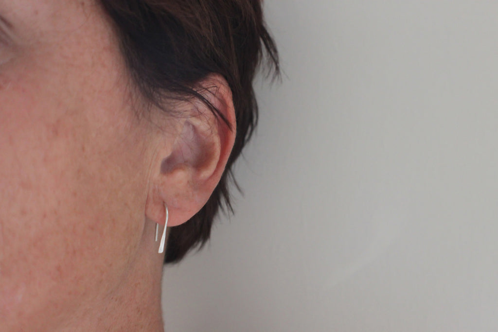 simple luck reclaimed silver everyday earrings