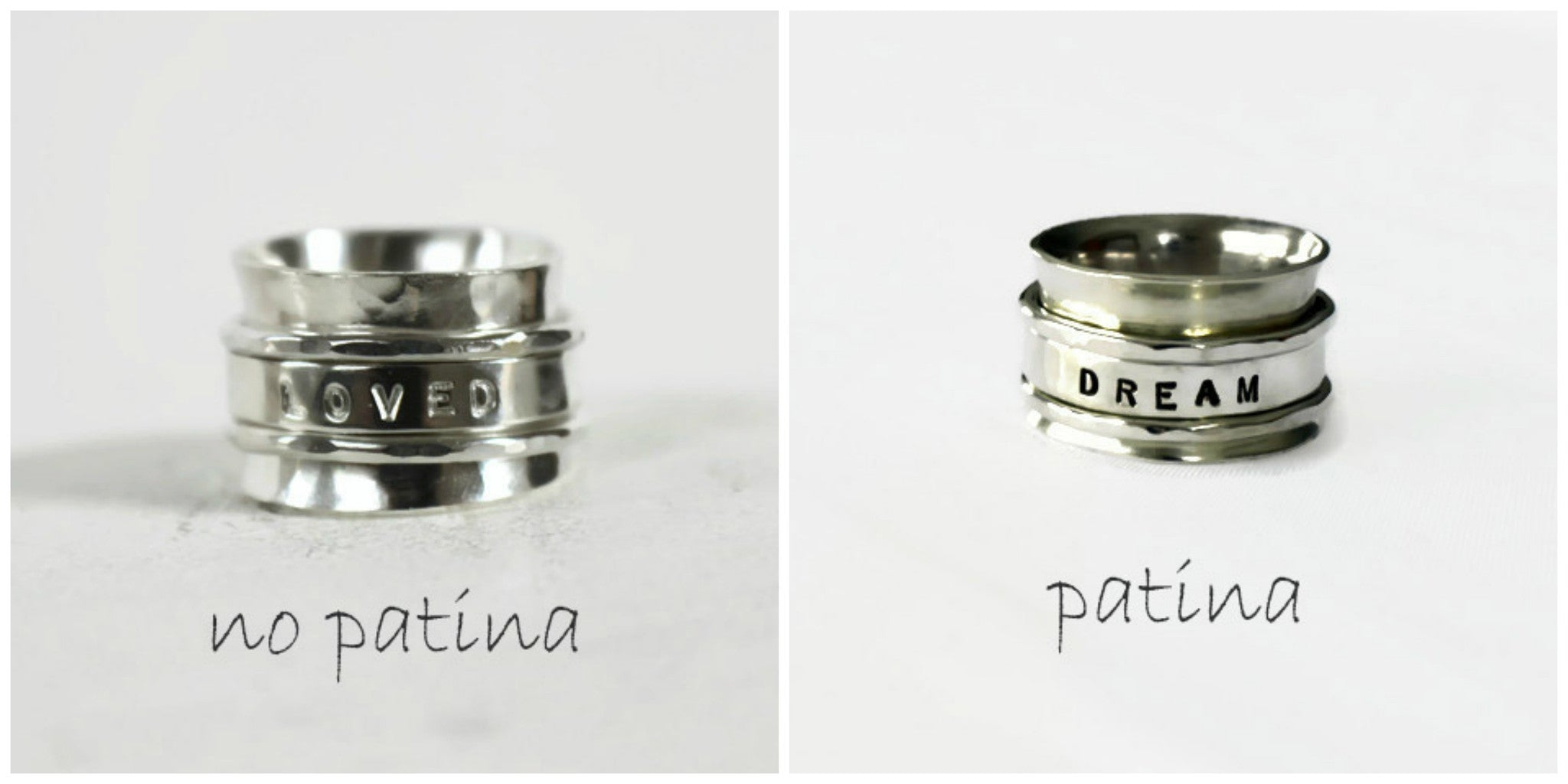 Silver Personalized Spinner Ring By SFDesigns