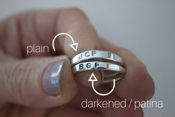 Finish options for custom rings by SFDesigns.