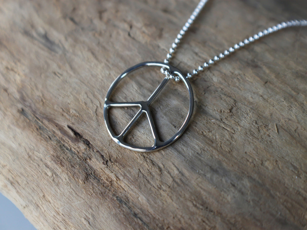 peace sign necklace by SFDesigns