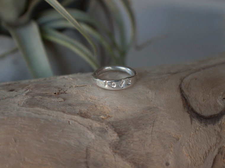 personalized word ring by SFDesigns