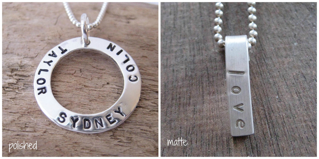Open Circle Pendant - personalized medium pendant