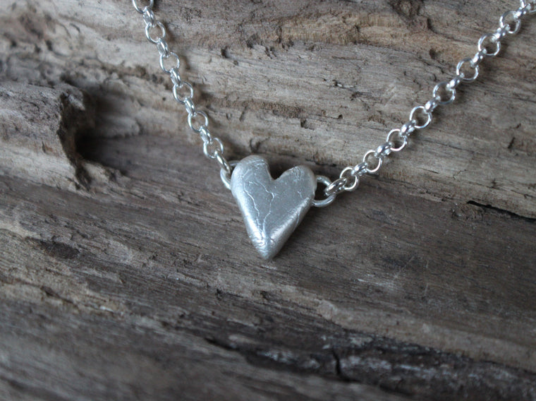 Pure Love - silver heart necklace