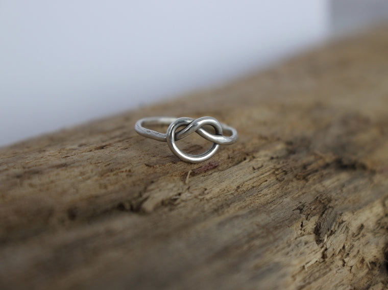 sterling silver love knot ring by SFDesigns