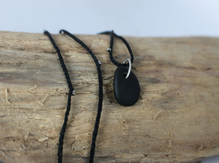 natural beach stone necklace by SFDesigns