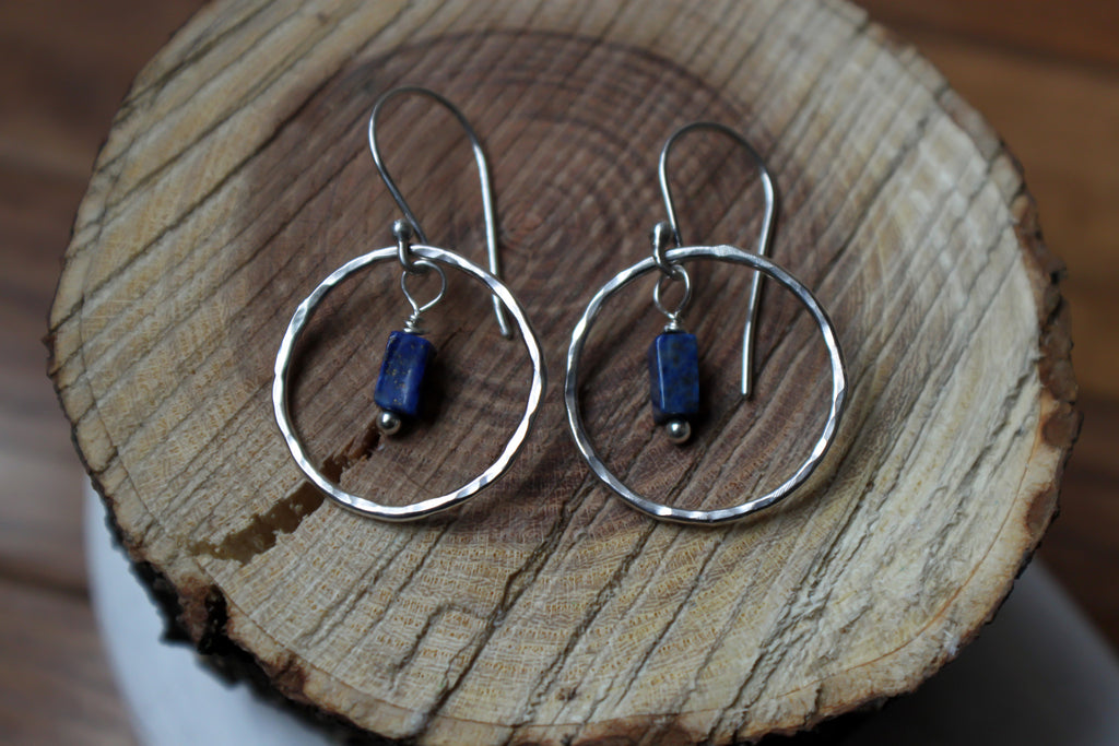Ocean Blue - silver and lapis lazuli earrings