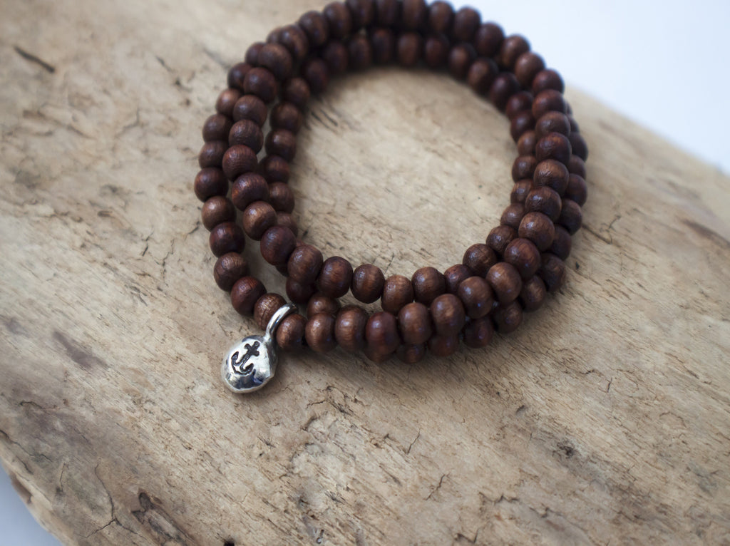 simple intention wooden bracelet by SFDesigns
