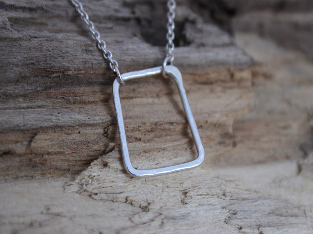 Perfectly Imperfect - simple rectangle necklace