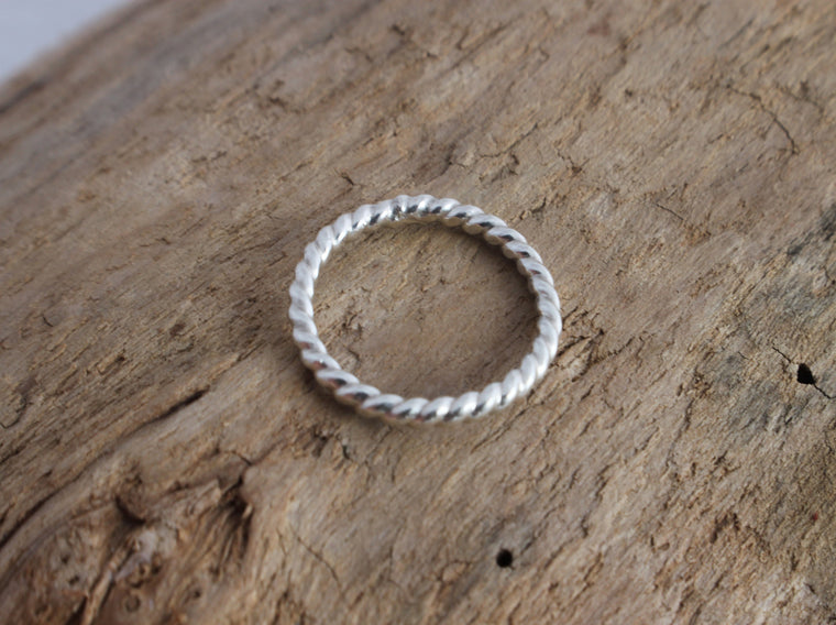 Simply Twisted - twisted wire silver stacking ring