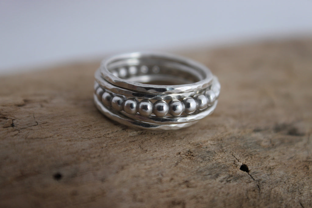 Simply Stacked - silver stacking rings